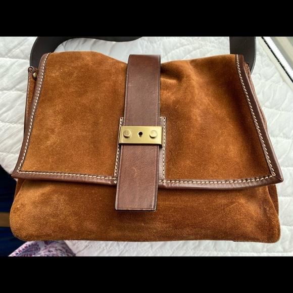 Francesco Biasia suede shoulder bag